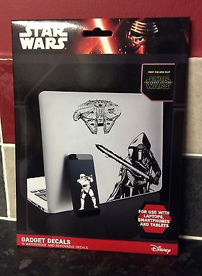 Star Wars The Force Awakens Gadget Decals iPhone iPad, Disney, The Last Jedi