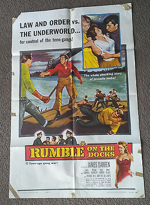 Rumble On The Docks 1956 Movie Poster I Sheet James Darren