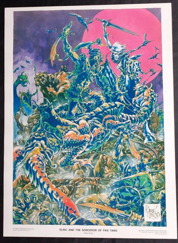 """""""ELRIC & THE SORCEROR OF PAN TANG"""" print. File Copy NM/NM+ 1976"""