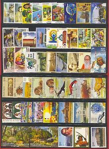 INDIA-2015-Complete-Year-Set-of-49-Commemorative-Stamps-MNH