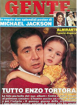 GENTE N. 22 2 GIUGNO 1988 MICHAEL JACKSON POSTER DOPPIO MORTE ENZO TORTORA