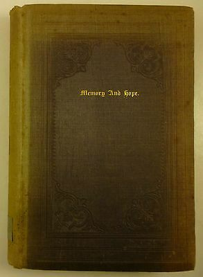 1851 Memory And Hope Anthology Poems Mourning Children Whittier Emerson Browning