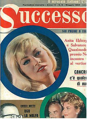 SUCCESSO ANNO IV N. 5 MAGGIO 1962 ANITA EKBERG GRACE KELLY WEST SIDE STORY