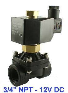 3-4-NPT-2-Way-Normally-Open-Industrial-Plastic-Solenoid-Air-Water-Valve-12VDC