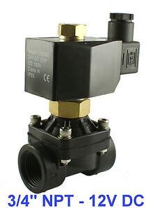 3-4-NPT-2-Way-Normally-Open-Industrial-Plastic-Solenoid-Air-Water-Valve-12VDC