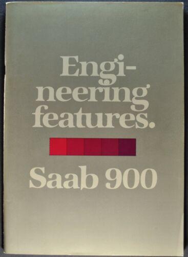 1980 Saab 900 50pg Features Brochure EMS GLi Turbo Sedan Excellent Original 80