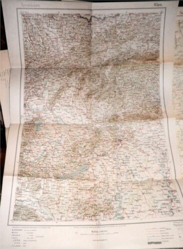 WWI 1915 German Army Military Map E. Europe,Vienna,Austria,Budapest,Prussia,RARE