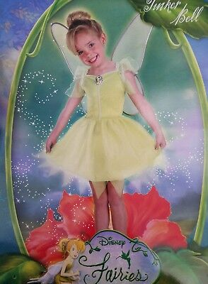 Disney Fairies Tinker Bell Child Dress Up Halloween Costume 3-4T