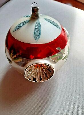 vintage MAXI pallina diam12 in vetro soffiato x albero di babbo natale/christmas