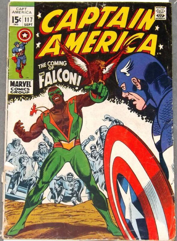 CAPTAIN AMERICA #117 119 1st Appearance of The Falcon 1969 MCU Marvel #comics