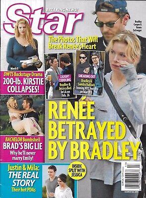 Star magazine Renee Zellwegger Bradley Cooper The Bachelor Kirstie Alley Fashion