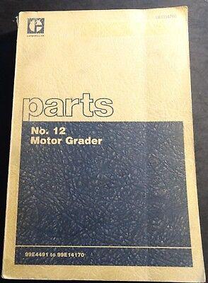 Printed 1978 Caterpillar No. 12 Motor Grader Parts Manual 852