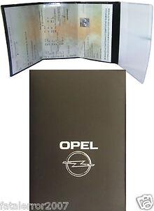 pochette etui porte carte grise opel 4 volets en gomme noire souple ebay. Black Bedroom Furniture Sets. Home Design Ideas