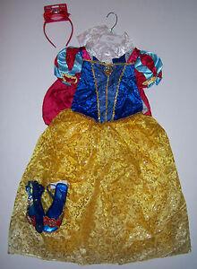 disney store size 10 snow white costume dress headband