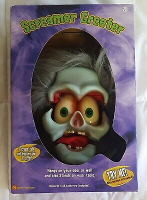 Halloween Light Activated Screamers (Gemmy Screamer Greeter Halloween Goul Animated Lights Up Motion Activated)