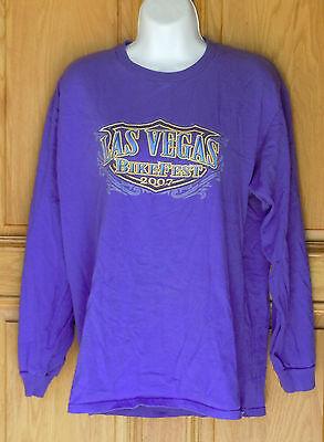 Briar Creek Mens Size M Purple 2007 Las Vegas Bike Fest Long Sleeve T Shirt