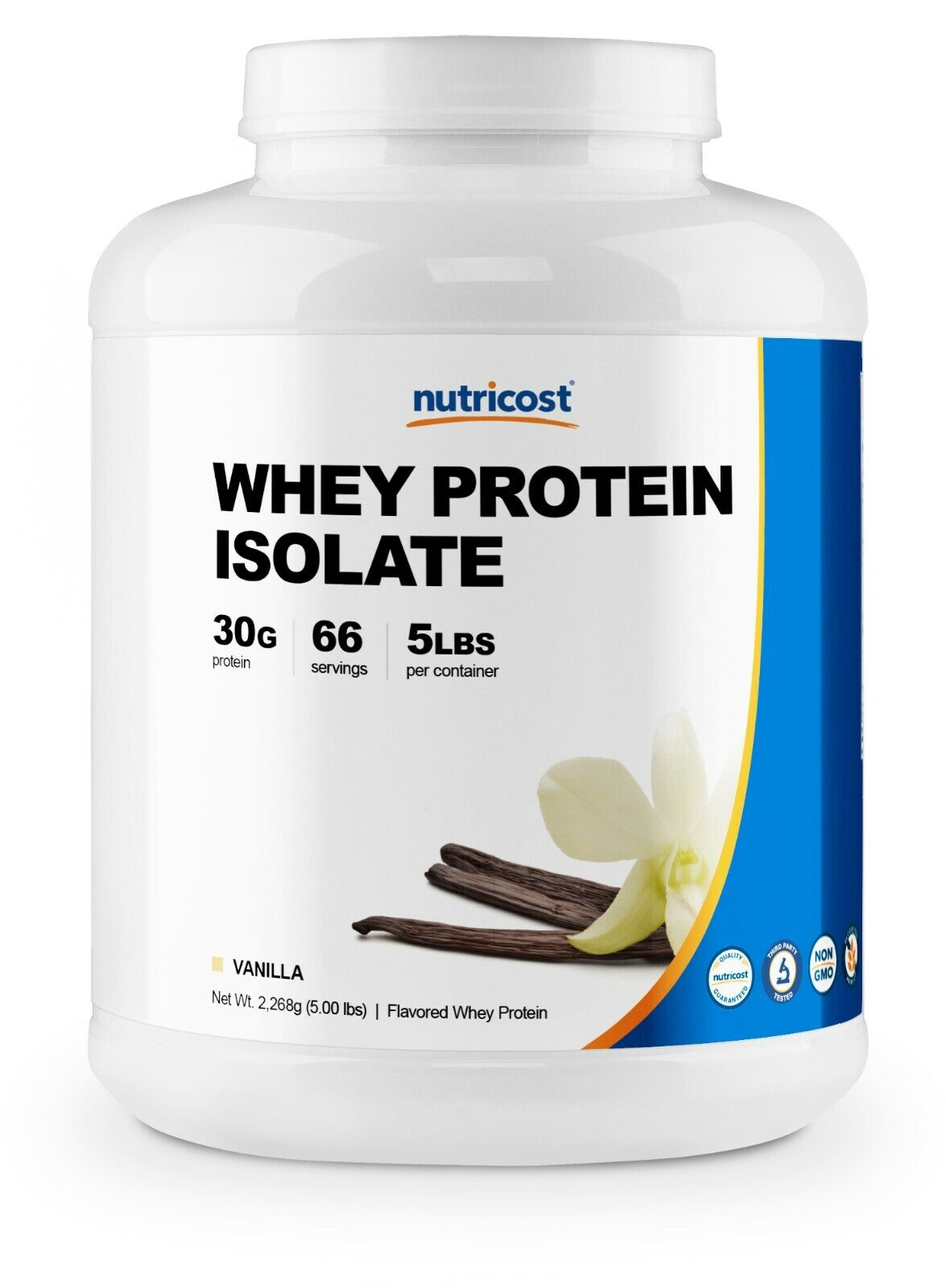 Nutricost Whey Protein Isolate (Vanilla) 5LBS - Premium Isolate Protein Powder