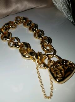 9ct  gold plated Chunky Bracelet◇◇ Blair Athol 2560