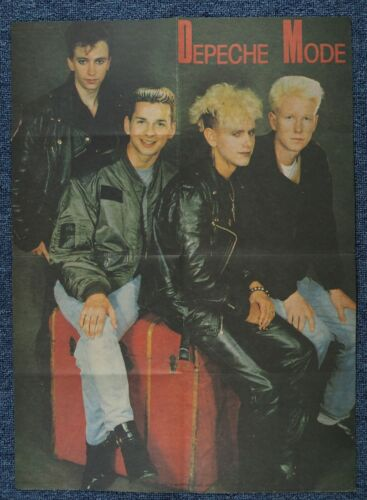 DEPECHE MODE old rare POSTER from Poland 1987 by Biuro Turystyki KSM Sopot