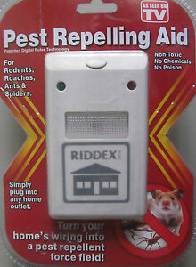 As Seen On TV... RIDDEX...Pest Repelling Aid