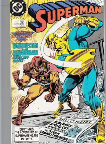 SUPERMAN #27 1989 DC -GANGBUSTER AND GUARDIAN- STERN/ CARLIN ...NM-