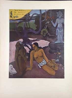 "1954 Vintage Full Color Art Plate ""WHERE DO WE COME FROM"" DETAIL 1 GAUGUIN Litho"