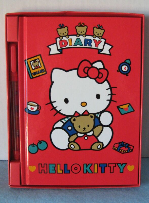 Sanrio Hello Kitty Diary w/Stickers/Pen Teddy Collectible Vintage 1976-1990 New