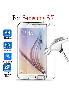 3-Pack Clear Flat Tempered Glass Screen Cover For SAMSUNG GALAXY S7 Flat Tempered Glass