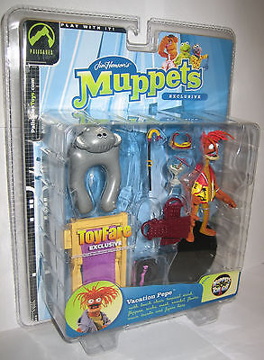 The Muppet Show Vacation Pepe Grey Floaty Variant Palisades Figure Exclusive