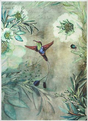 - Rice Paper for Decoupage Decopatch Scrapbook Craft Sheet Vintage Green Garden