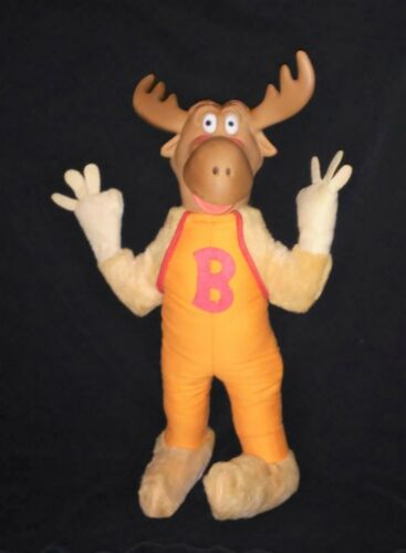 Bullwinkle plush doll Ideal vinyl head 14 inches nice color 1961 Terry Toons