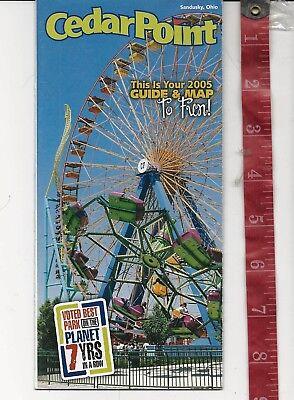 Vintage 2005 Cedar Point Amusement Park Guide Brochure Ohio  Free Shipping