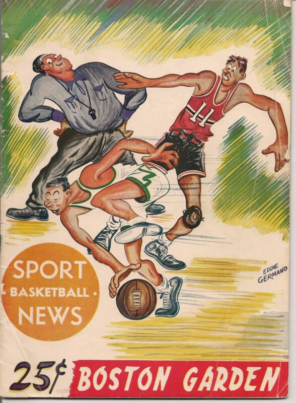 1950 Holy Cross-Loyola & Boston College-CCNY Doubleheader Program Cousy RARE!!