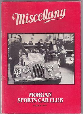MISCELLANY MORGAN SPORTS CAR CLUB MAGAZINE MARCH 1993 POST FREE