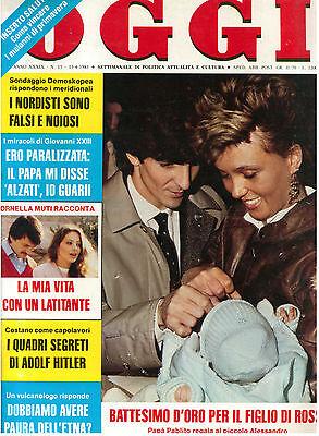 OGGI N. 15 23 APRILE 1983 PAOLO ROSSI CALCIO ORNELLA MUTI ADOLF HITLER REAGAN