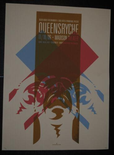 Queensryche Covington KY 2006 concert poster #/100 Operation: Mindcrime rare