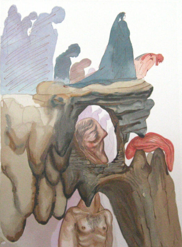 Salvador Dali The Divine Comedy Inferno #22  Woodblock Fine Art Print Make Offer