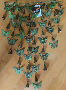 Shimmering Bells Butterflies Handcrafted Wind Chime Garden Decor Yard Windchime