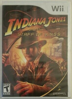 Staff Wii - INDIANA JONES And The Staff Of Kings Nintendo Wii 2009 Video Game NEW