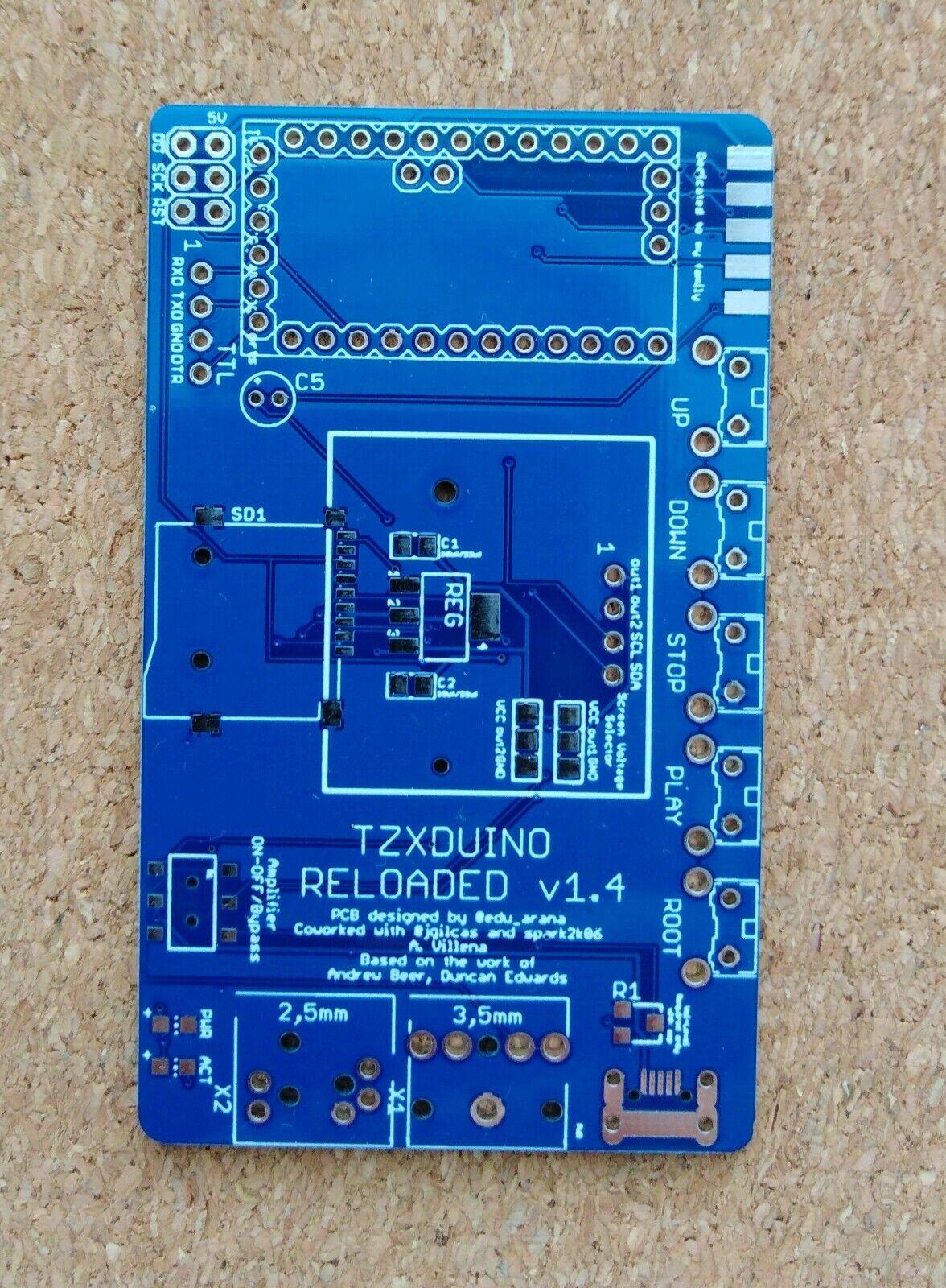  TZXDUINO Reloaded PCB rev1.4
