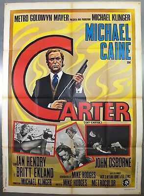 GET CARTER -MICHAEL CAINE / IAN HENDRY- ORIGINAL ITALIAN ONE PANEL MOVIE POSTER for sale  Newcastle upon Tyne