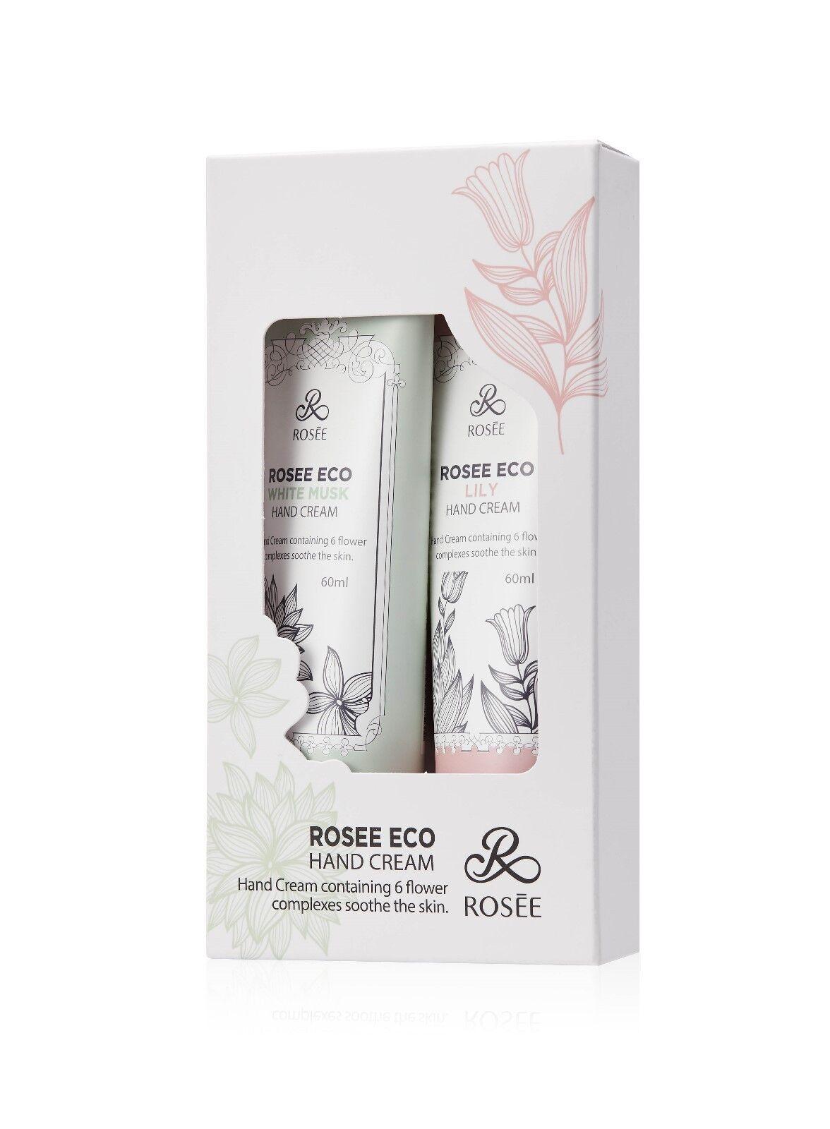 Rosee Eco Hand Cream 2pcs Set / Lily & White Musk-KOREA COSM