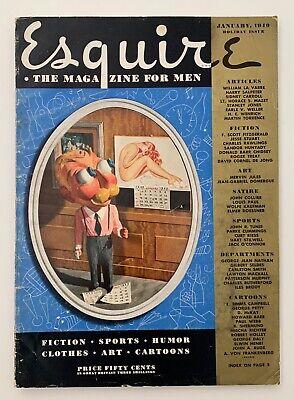 Vintage Original Esquire January 1940 - Petty, F. Scott Fitzgerald, Advertising