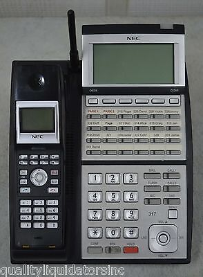 Nec Ip3na-24txh 24-button Phone W Ip3na-bch Wireless Handset Option Nice