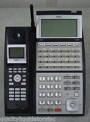 Nec Ip3na-24txh 24-button Phone W Ip3na-bch Wireless Handset Option Nice