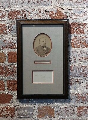 Grover Clevaland -22nd & 24th US President - Original Signature with Photograph