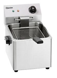Bartscher Elektro Tisch Fritteuse 1x8 Liter Becken Snack 3 III Friteuse A162810E