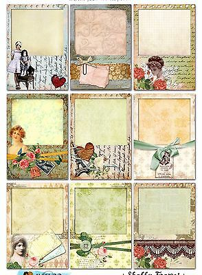 9 Shabby Chic Frames Hang Tags Scrapbooking Paper Crafts - Shabby Chic Scrapbook Paper