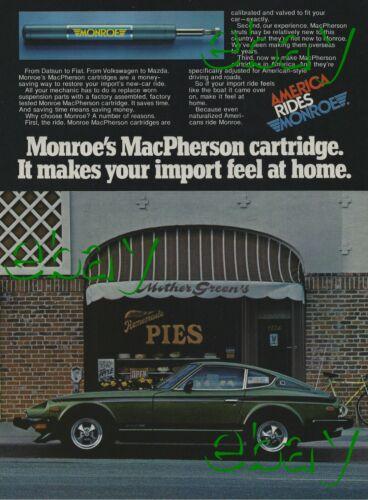 1976 Monroe Shocks Ad 1974 Datsun 260Z Vintage Magazine Advertisement 260 Z