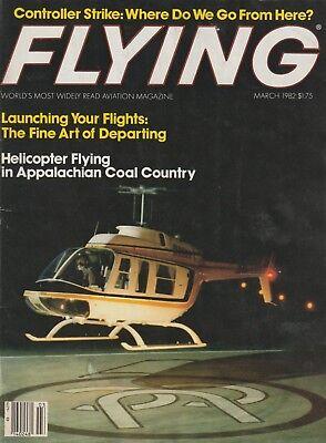 Flying Magazine (Mar 1982) (Controller Strike, Bonanza V-Tail, TWA 727 LOC)  for sale  Shipping to Canada